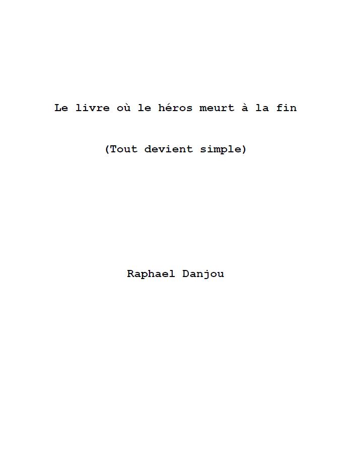 Le livre où le héros meurt à la fin, couverture